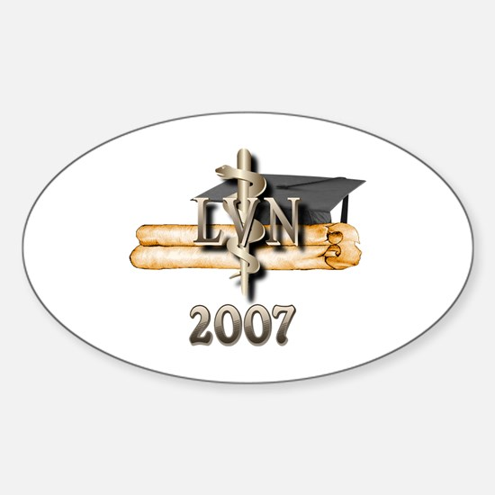 LVN Grad 2007 Oval Decal