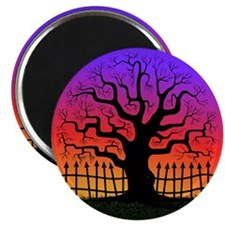 Spooky Tree at Sunset Magnet