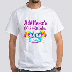 AWESOME 60TH White T-Shirt