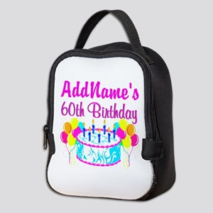 AWESOME 60TH Neoprene Lunch Bag
