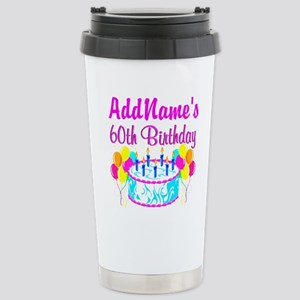 AWESOME 60TH Stainless Steel Travel Mug