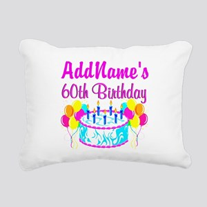 AWESOME 60TH Rectangular Canvas Pillow