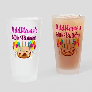 AMAZING 60TH Drinking Glass