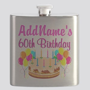 AMAZING 60TH Flask