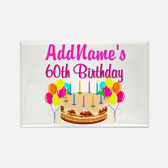 AMAZING 60TH Rectangle Magnet