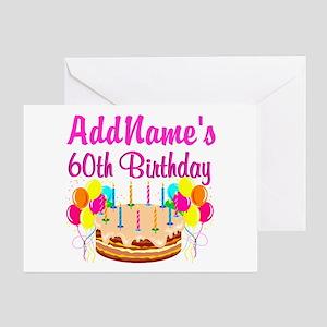 AMAZING 60TH Greeting Card