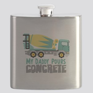 My Daddy Pours CONCRETE Flask