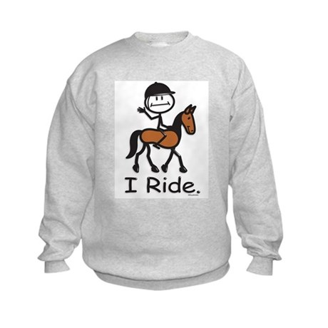 English Horse Riding Kids Sweatshirt