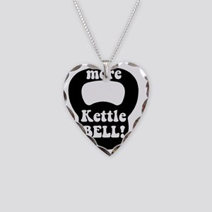 More Kettlebell Necklace Heart Charm