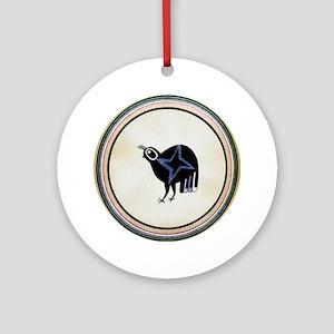 MIMBRES STAR BIRD BOWL DESIGN Ornament (Round)