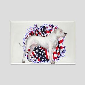 Dogo Patriot Rectangle Magnet
