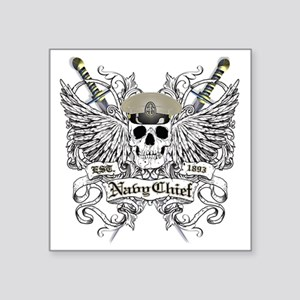 "Chief wingskull Square Sticker 3"" x 3"""