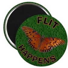 Flit happens Butterfly Magnet
