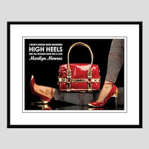 HIGH HEELS RED Large Framed Print
