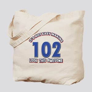 102 year old birthday designs Tote Bag