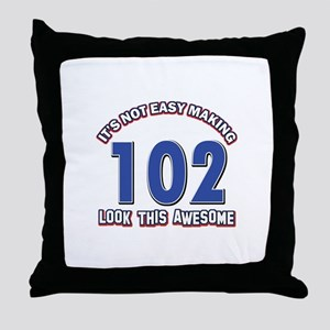 102 year old birthday designs Throw Pillow