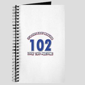 102 year old birthday designs Journal