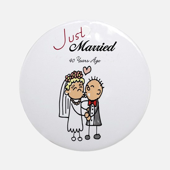 Just Married 40 years ago Ornament (Round)