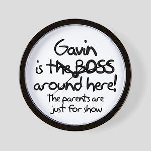 Gavin is the Boss Wall Clock
