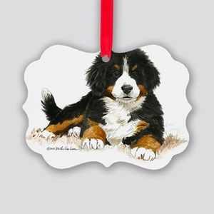 Bernese Mountain Dog Bright Eyes Picture Ornament