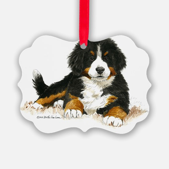 Bernese Mountain Dog Bright Eyes Ornament