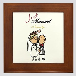 Just Married 50 years ago Framed Tile