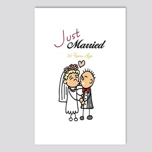 Just Married 50 years ago Postcards (Package of 8)