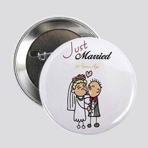 Just Married 50 years ago Button