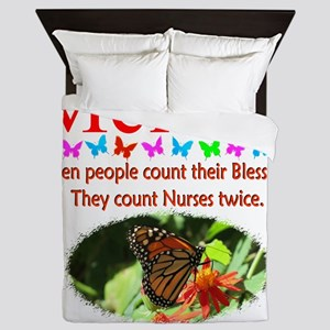 THANK YOU NURSES Queen Duvet