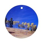 Aspens on Hill Ornament (Round)