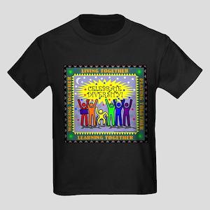 Celebrate Diversity Kids Dark T-Shirt