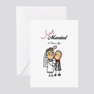 Just Married 75 years ago Gifts Greeting Cards (Pa