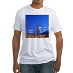 Yellowstone river flat Fitted T-Shirt
