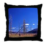 Yellowstone river flat Throw Pillow