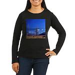 Yellowstone river flat Women's Long Sleeve Dark T-