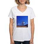 Yellowstone river flat Women's V-Neck T-Shirt