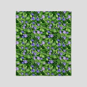 Periwinkle Blooms Throw Blanket