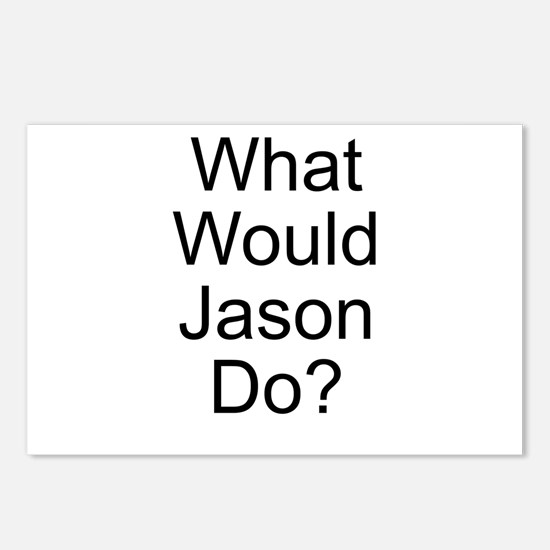 What Would Jason Do? Postcards (Package of 8)