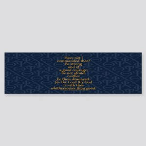 Joshua 1:9 Tapestry Sticker (Bumper)