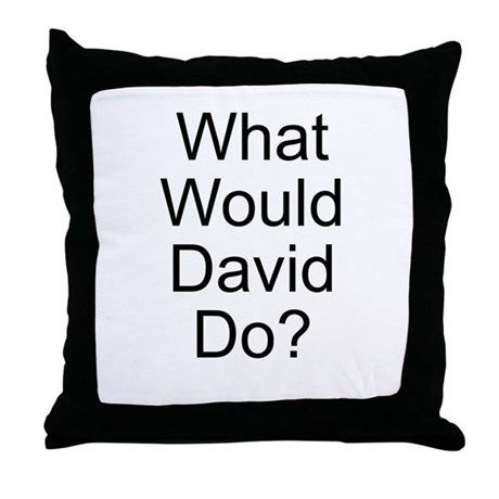 What Would David Do? Throw Pillow