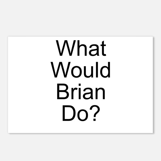 What Would Brian Do? Postcards (Package of 8)