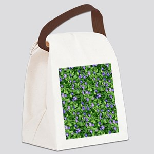 Periwinkle Blooms Canvas Lunch Bag
