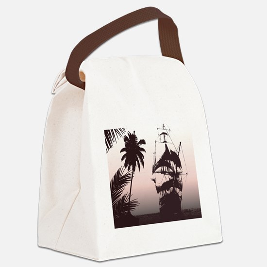 Pirate Ship Canvas Lunch Bag