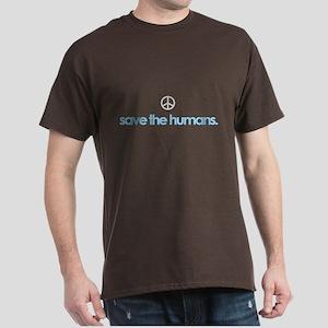 SAVE THE HUMANS-PEACE Dark T-Shirt