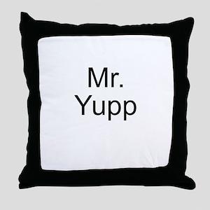 Mr. Yupp Throw Pillow
