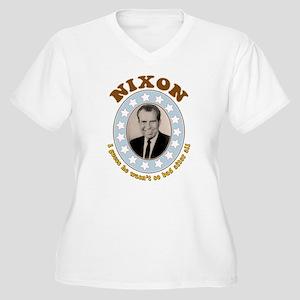 Bring Back Nixon Plus Size V-Neck T-Shirt