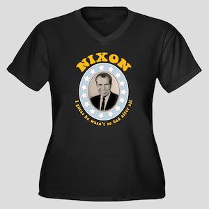 Bring Back Nixon Plus V-Neck T-Shirt (Dark)