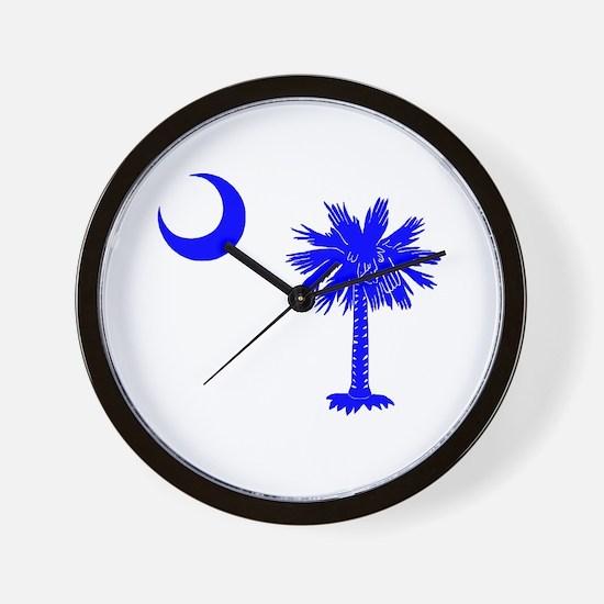 Palmetto and Crescent SC Wall Clock