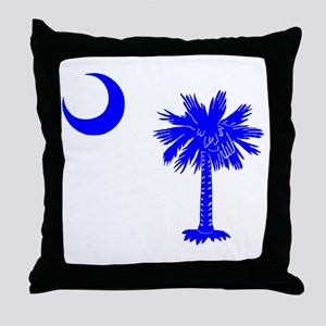 Palmetto and Crescent SC Throw Pillow