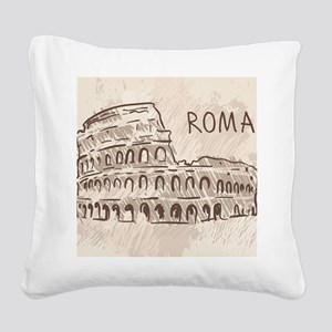 Rome Square Canvas Pillow